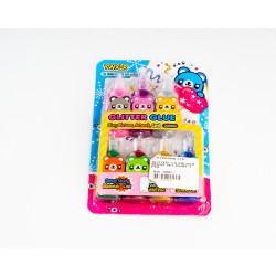 Glitter + 6 Color Beads Set