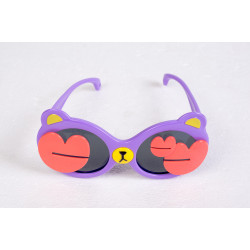 Heart Teddy Sunglasses Purple