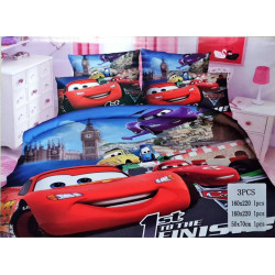 Cars 3 Pc Bed Cover