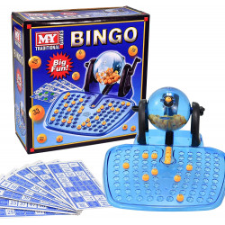 M.Y Traditional Bingo Game - Complete with Bingo Balls, Dispenser and Bingo Cards