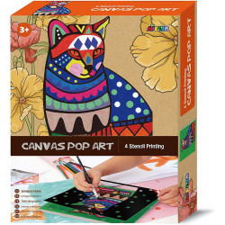 Canvas Pop Art - Cat