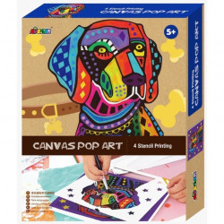 Canvas Pop Art - Dog