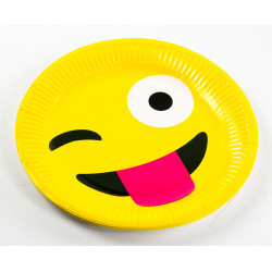Emoji Paper Plates - Tongue