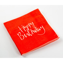 Happy Birthday Tissues - Red