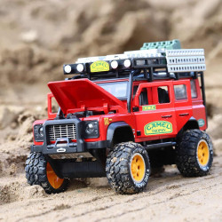 Die Cast Car Model - Land Rover Red