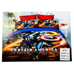 Captain America 3 Pc Bed Cover
