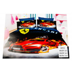Ferrari 3 Pc Bed Cover