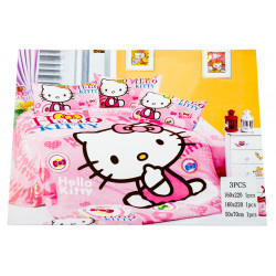 Hello Kitty 3 Pc Bed Cover