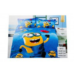 Minion 3 Pc Bed Cover