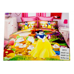 Snow White 3 Pc Bed Cover