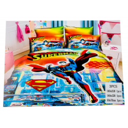 Superman 3 Pc Bed Cover