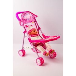 Baby Girl Pink with Stroller