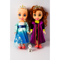 Elsa and Anna Doll with Tiara