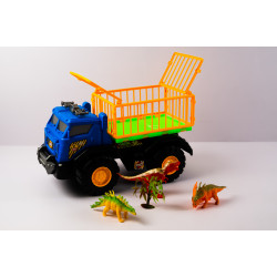 Truck with Cage and Dinosaurs