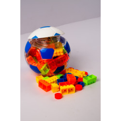 Football Building Blocks Blue