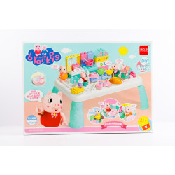 Block Pig DIY Table with Kitchen